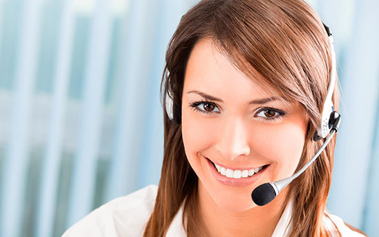 Smiling Help Desk woman
